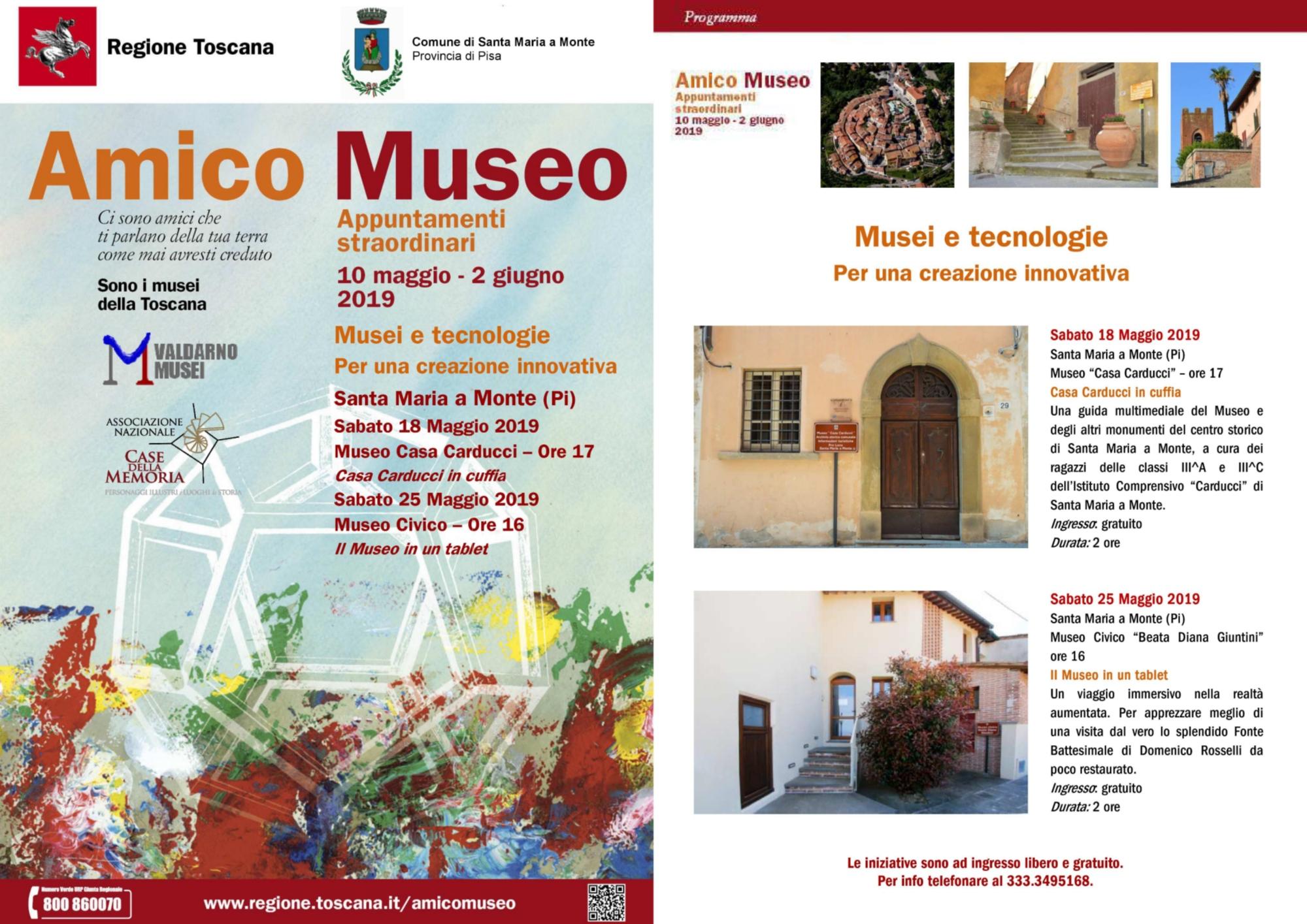 """La locandina di """"Amico Museo 2019"""""""