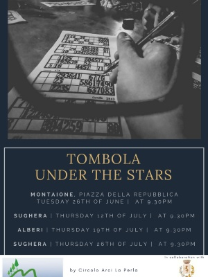 TOMBOLA UNDER THE STARS IN MONTAIONE