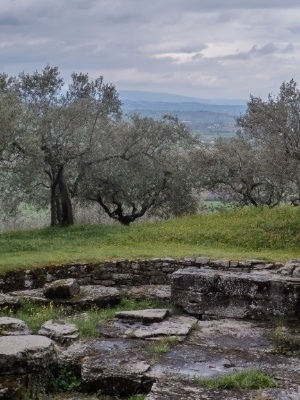 Etruscan archaeological sites in Cortona