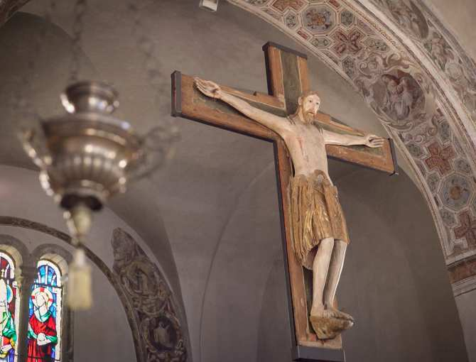 Wooden crucifix, Abbey of San Salvatore