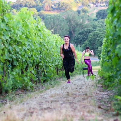 Running in the vineyard