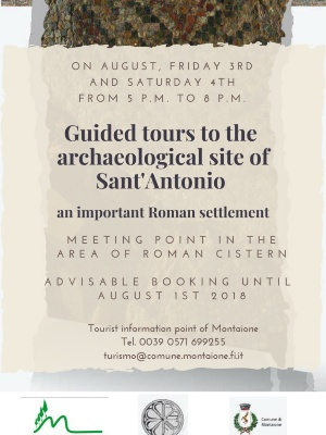 GUIDED TOURS TO THE ARCHAEOLOGICAL SITE OF SANT'ANTONIO IN MONTAIONE