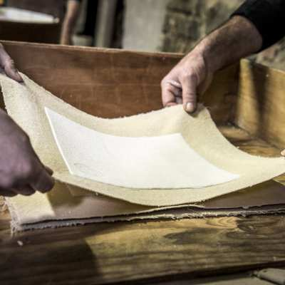 The production of the handmade paper