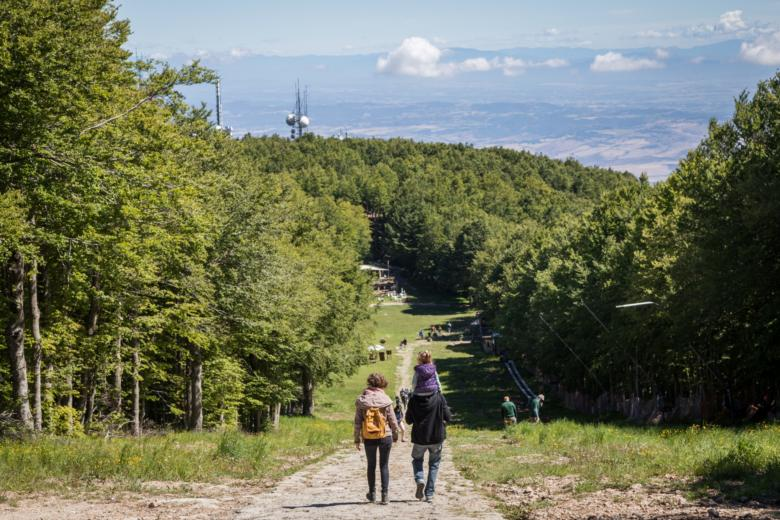 Trekking to the summit of Monte Amiata