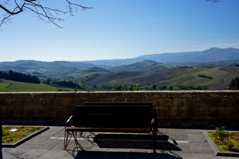 View on Val D'Orcia from San Casciano dei Bagni