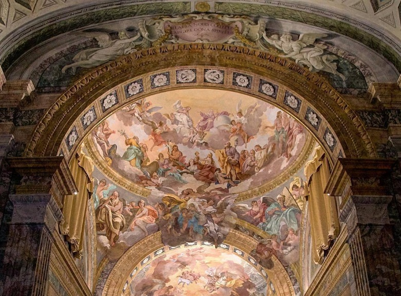 Frescoes inside San Leone Church