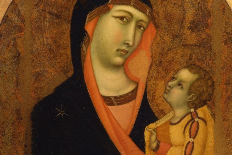 Detail of Madonna and child