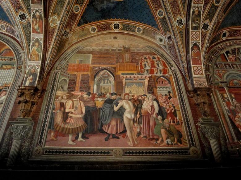 Santa maria della scala visit tuscany - Decorazioni grottesche ...