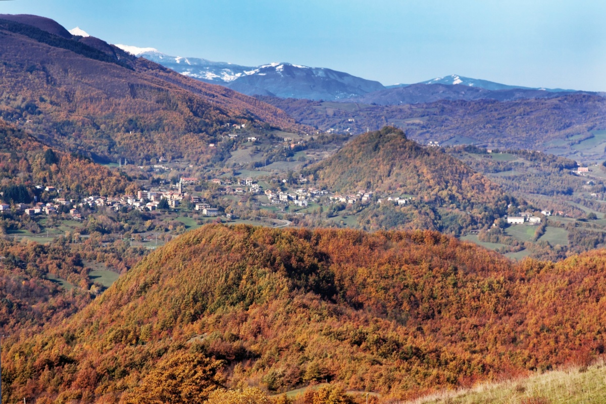 Upper Mugello with a view towards Firenzuola