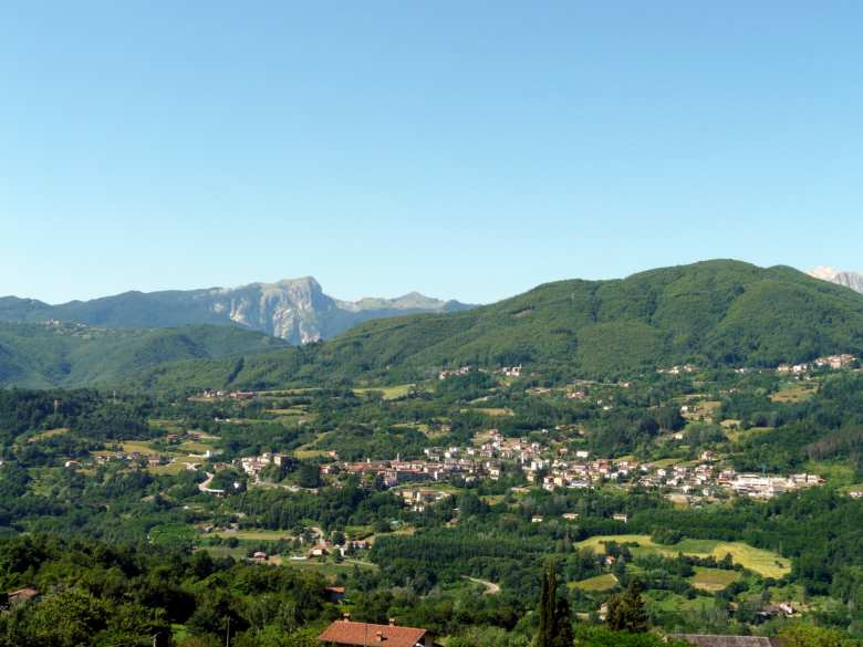 Camporgiano seen from San Romano in Garfagnana