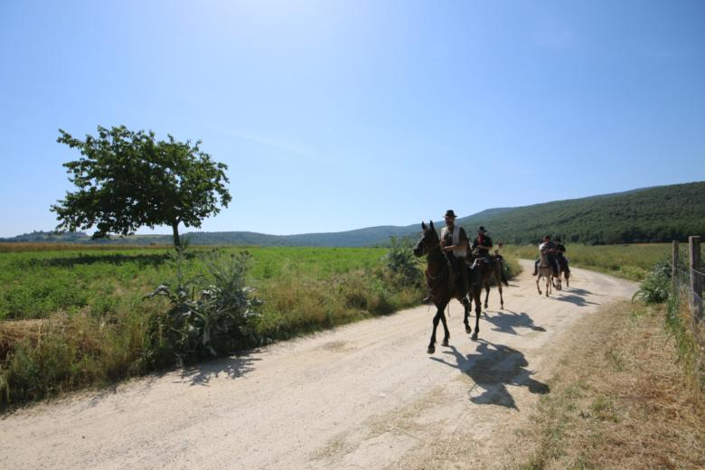Horseback riding in Tuscany
