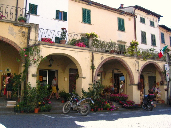 Main square of Greve in Chianti