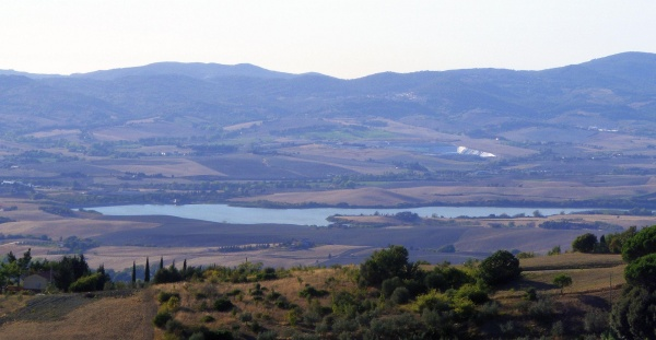 Santa Luce Lake seen from Castellina Marittima