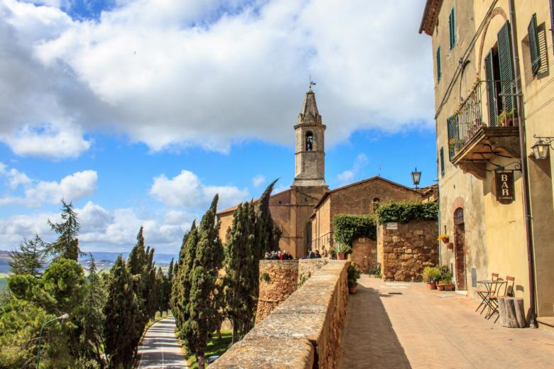 Pienza, with a view of the Val d'Orcia