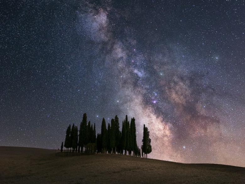 San Quirico d'Orcia – First shot of the Milky Way in September