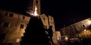Torchlight ceremony in Abbadia San Salvatore