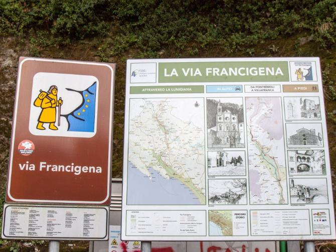 Via Francigena in Pontremoli