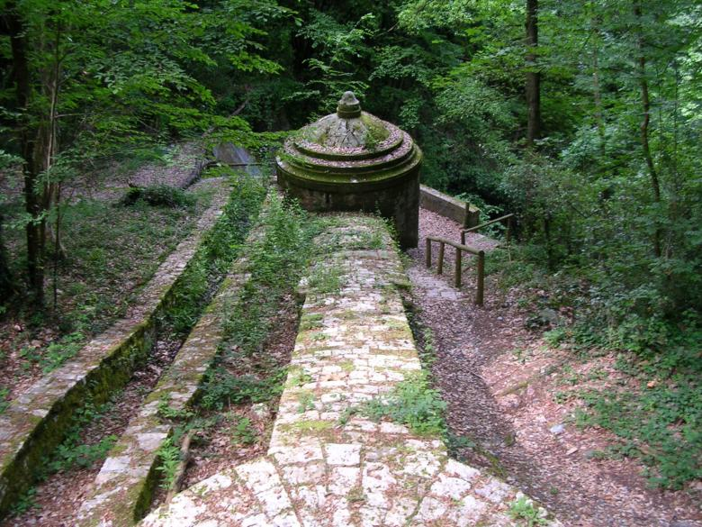 The springs where the aqueduct gets its water