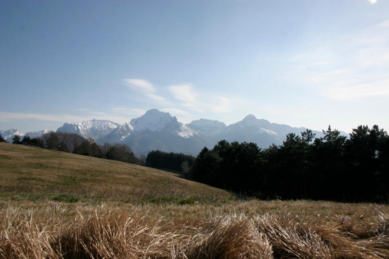 Apuan Alps from Minucciano