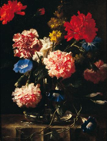 Franz Werner Tamm, a painting of the floral artifacts in the Medici Villa Poggio a Caiano