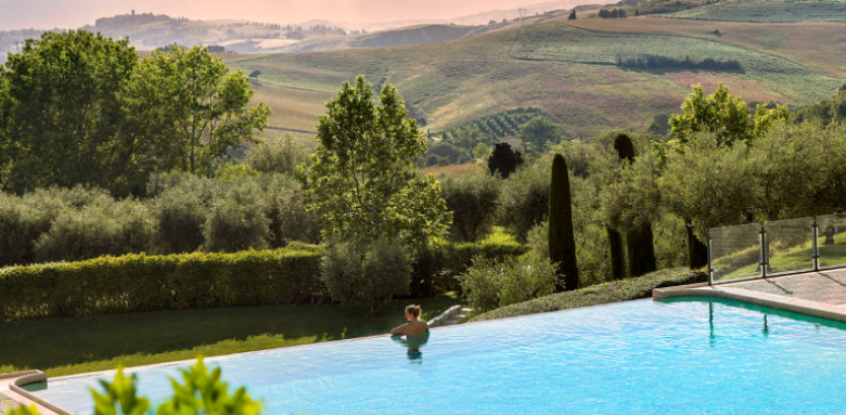 Fonteverde, the thermal pool with view on Val d'Orcia
