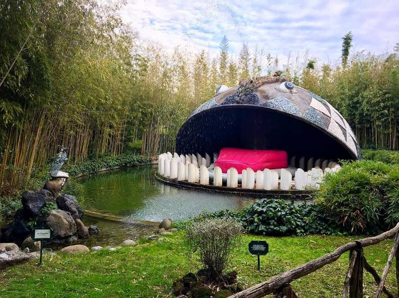 The renowned whale at the Pinocchio Park in Collodi