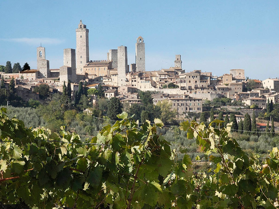 San Gimignano along the Via Francigena