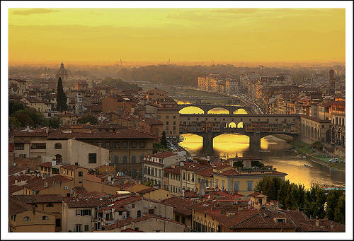 Sunset in Florence [Photo Credits: Steve http://ow.ly/hSwa2]