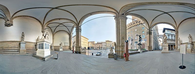 Loggia dei Lanzi: an open-air museum in Florence [Photo Credits: MatthiasKabel]