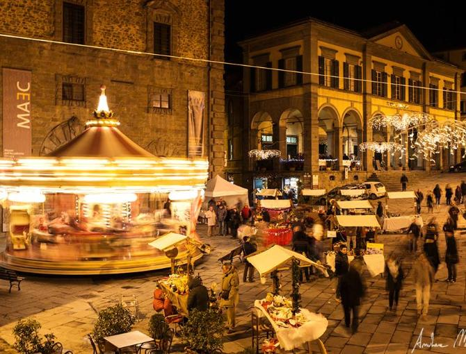 Christmas market in Cortona