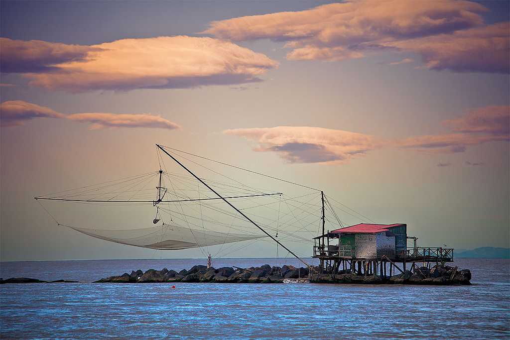 Traditional Fishing Nets in Boccadarno [Photo Credits: Francesco Ianett]