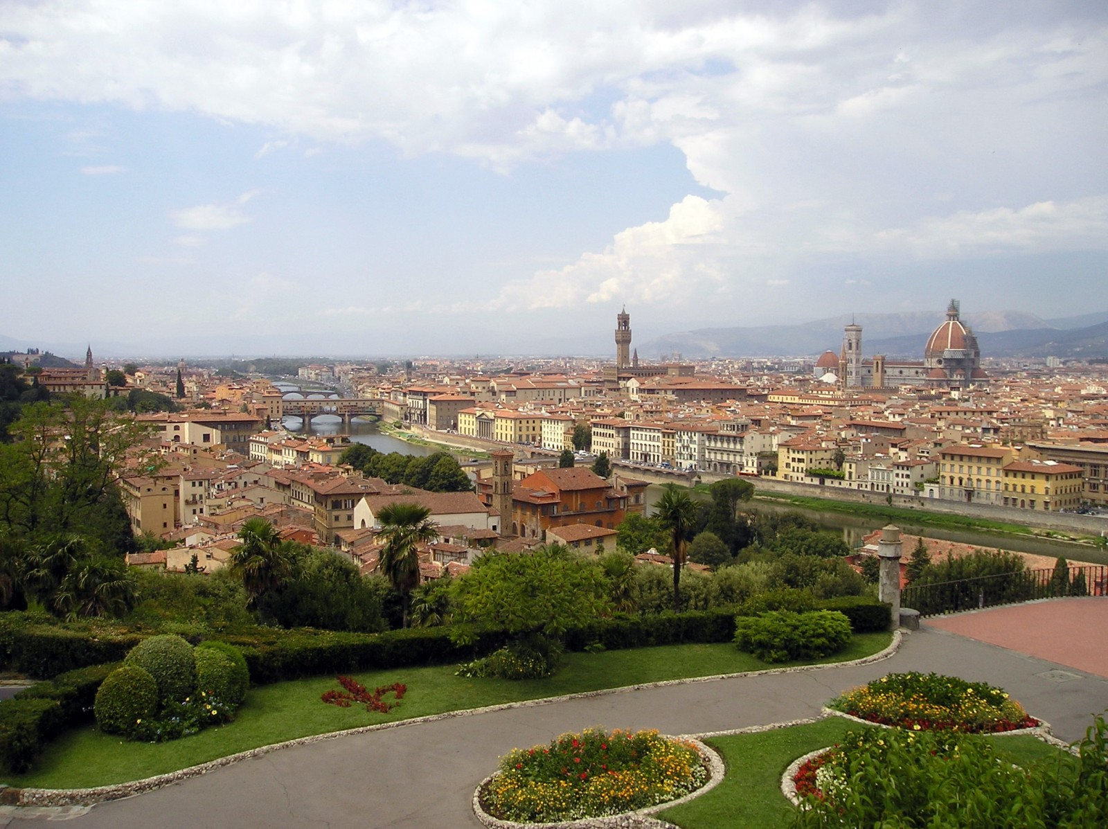 View overlooking Florence in the heart of Tuscany