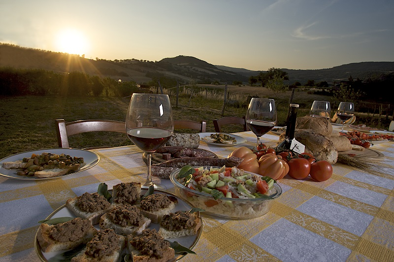 Wine and food from Maremma