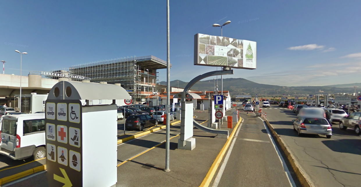 Outside Florence airport