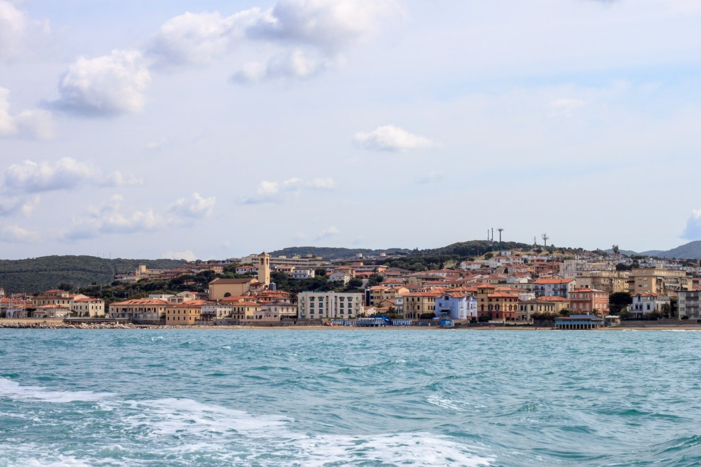 San Vincenzo seen by the sea