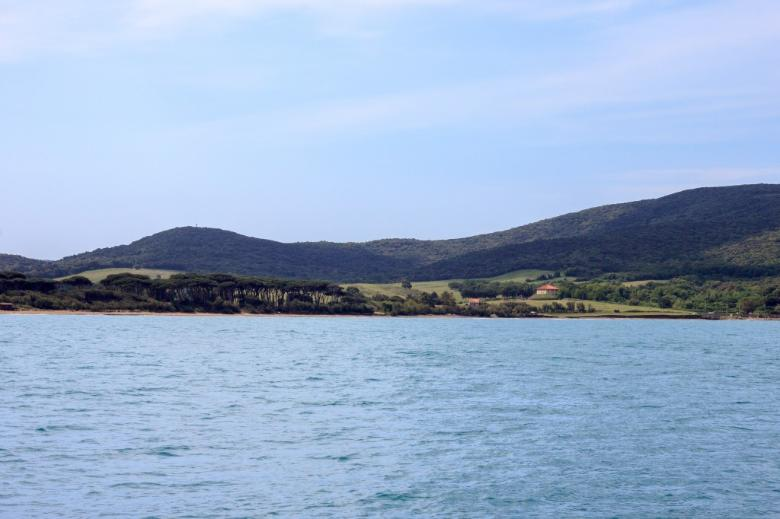 Baratti Beach from the sea