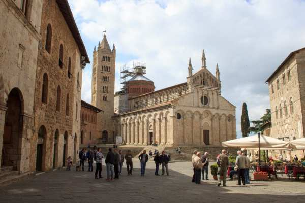 Cathedral of Saint Cerbonius and Piazza Garibaldi in Massa Marittima