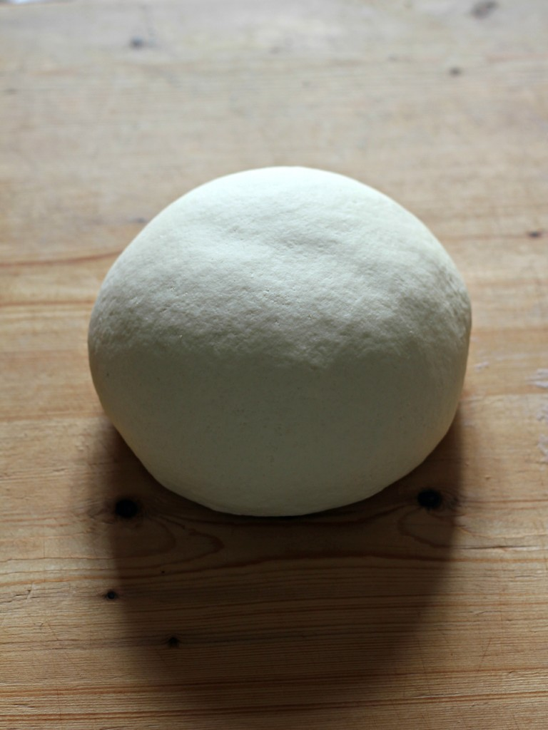 Knead the dough energetically for at least 10 minutes until you obtain a smooth and soft consistency. Remember that your