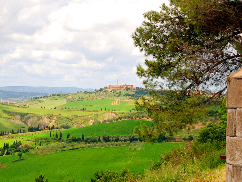 View over the Val D'Orcia