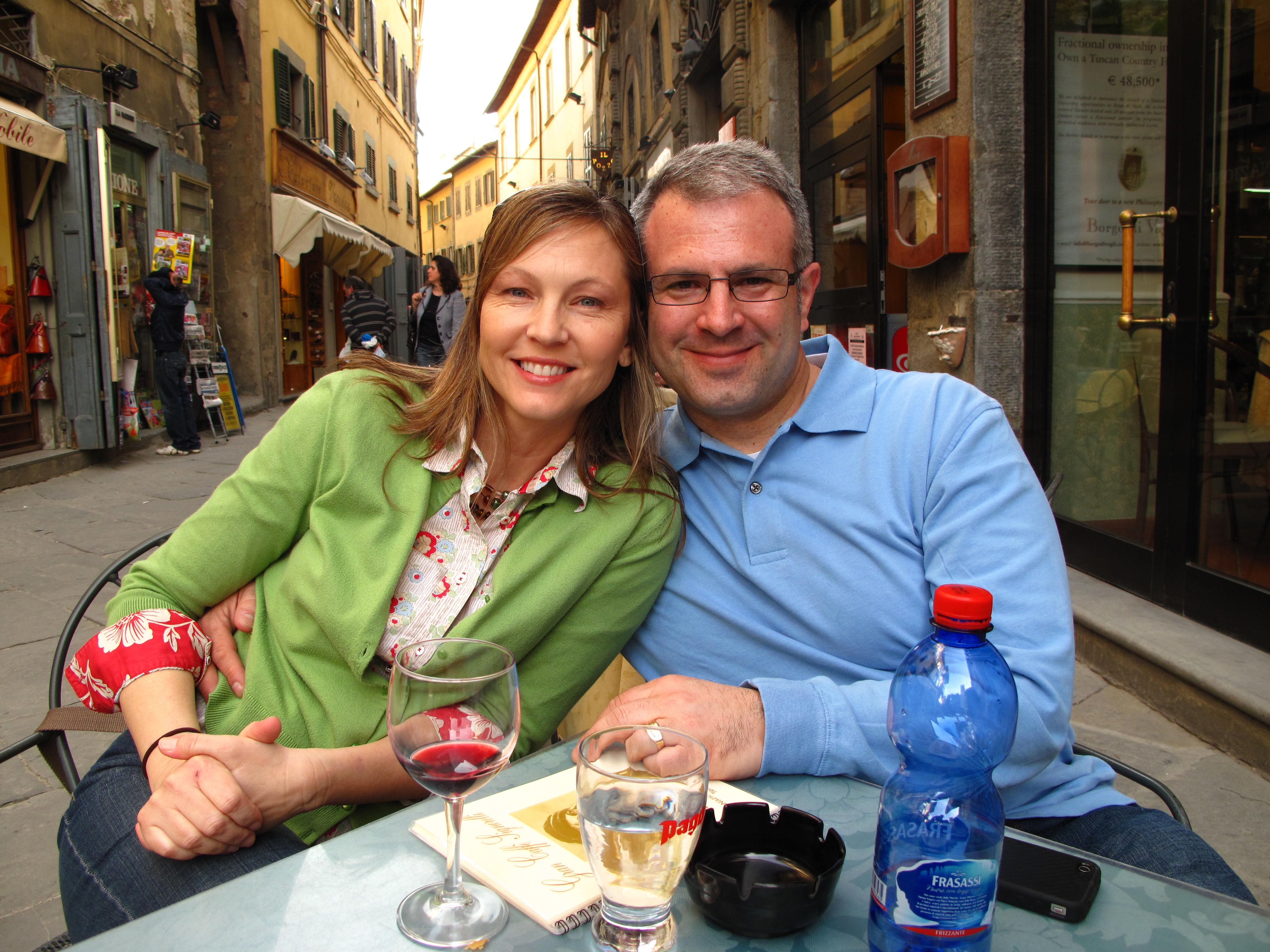 Patrick and his wife Amy in Cortona