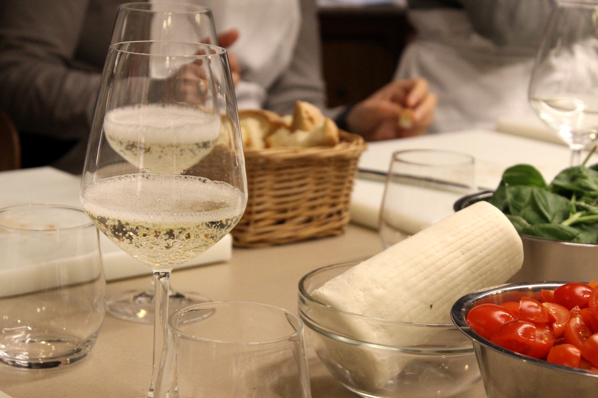 Aperitivo time during the cooking class