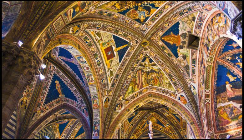 Siena, the vaults of the Cathedral