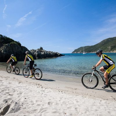 Mountain-biking on Elba