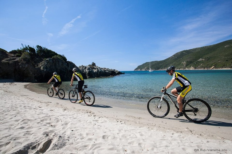 Biking on Elba Island