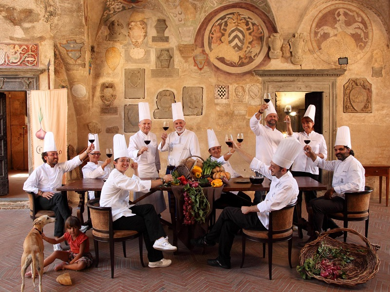 Chef meeting at Boccaccesca festival 2013 in Certaldo Alto