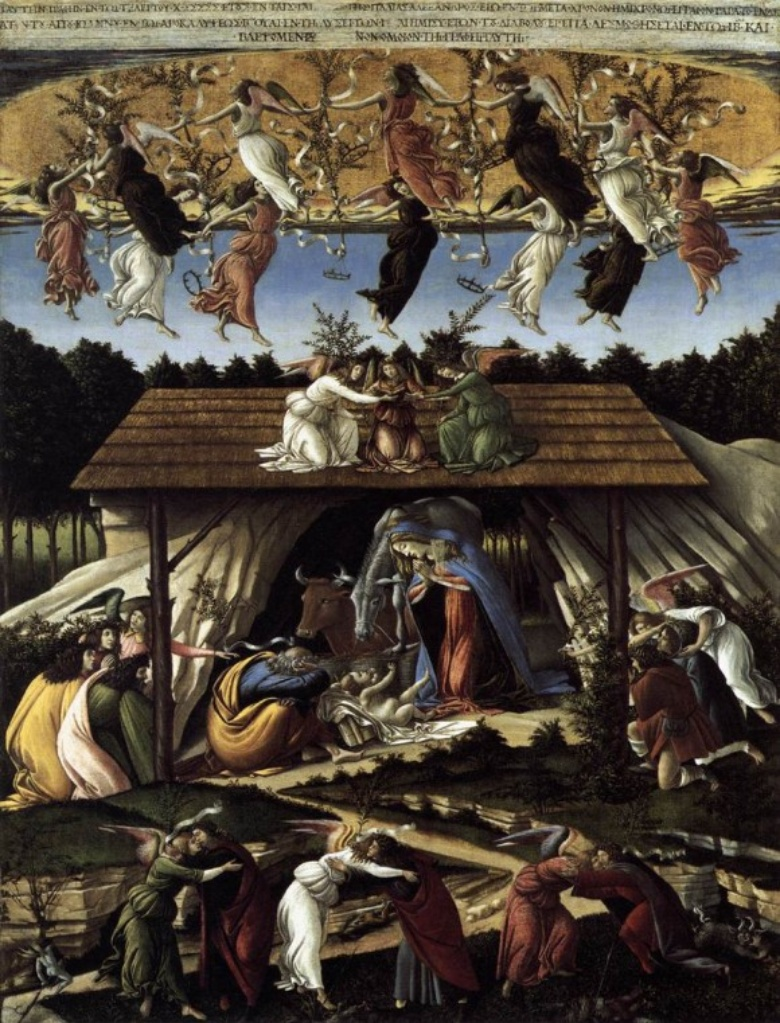 Sandro Botticelli, The Mystical Nativity, National Gallery of London.