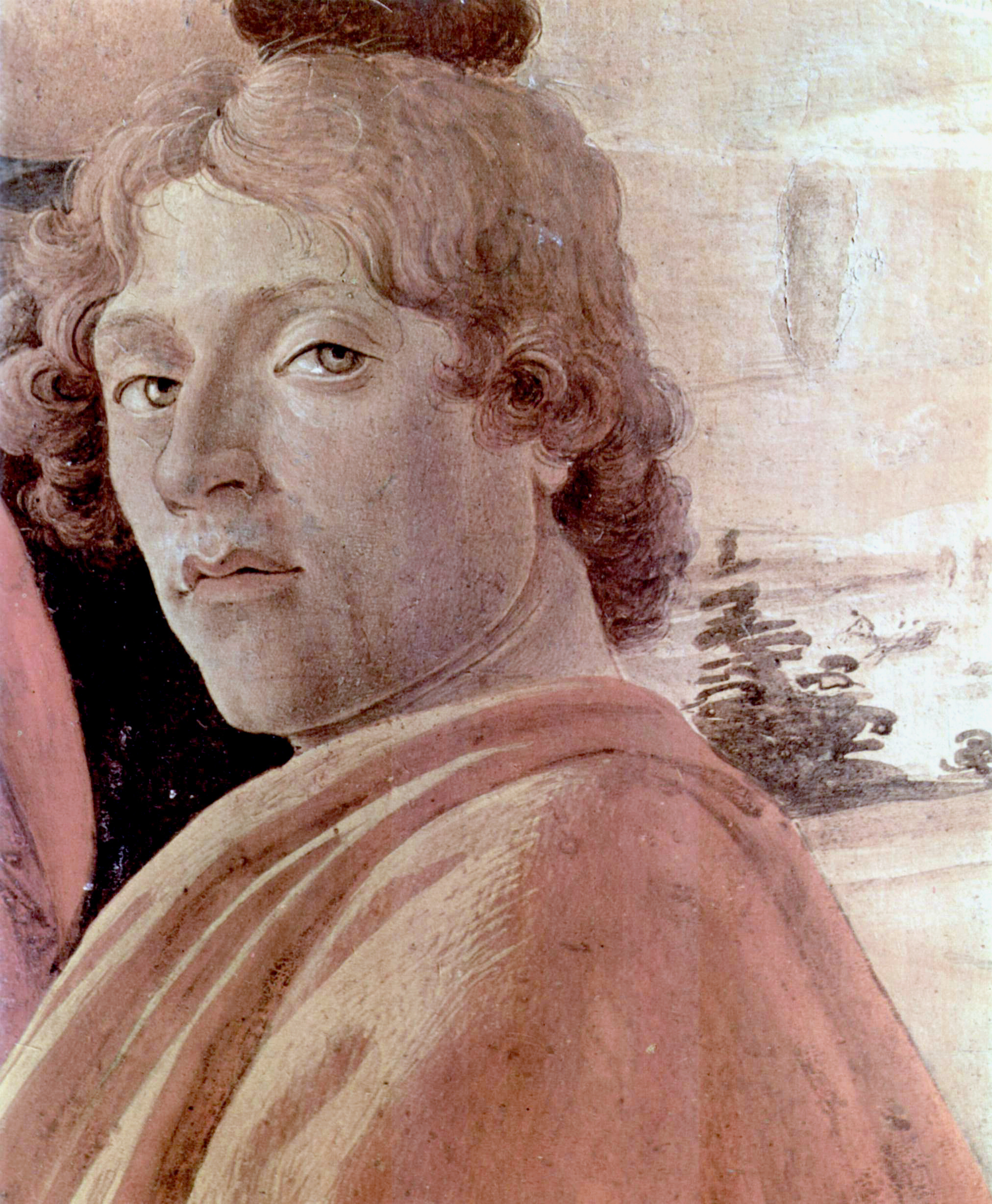 Probable self-portrait of Botticelli, in his Adoration of the Magi