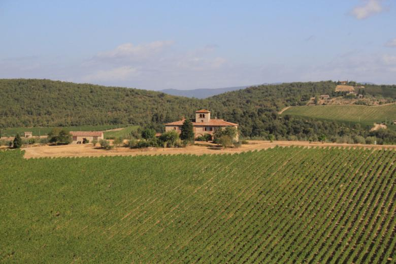 The house from Stealing Beauty in Gaiole in Chianti (Brolio castle vineyards)