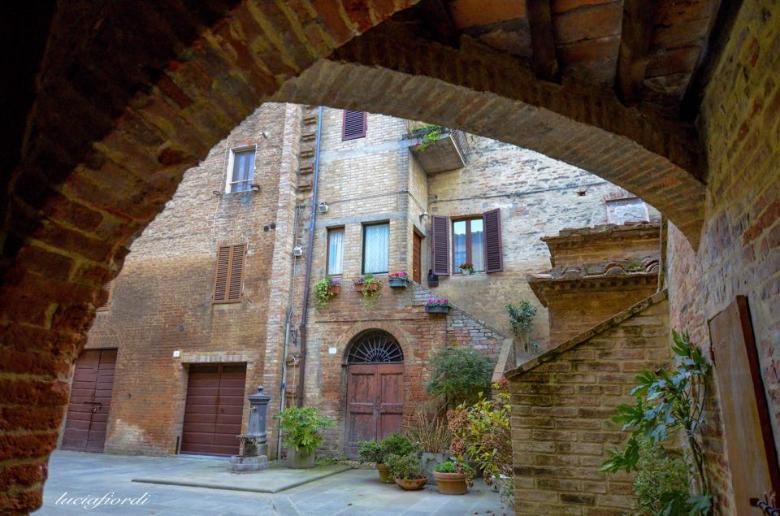 Buonconvento arch and houses