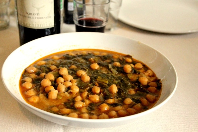 "Tuscan chickpea and chards soup or ""Chickpea cacciucco"""